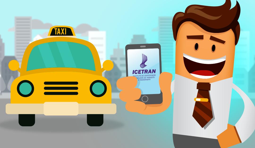 No curso de taxista do Icetran você estuda pela internet, onde quiser e nos horários que preferir