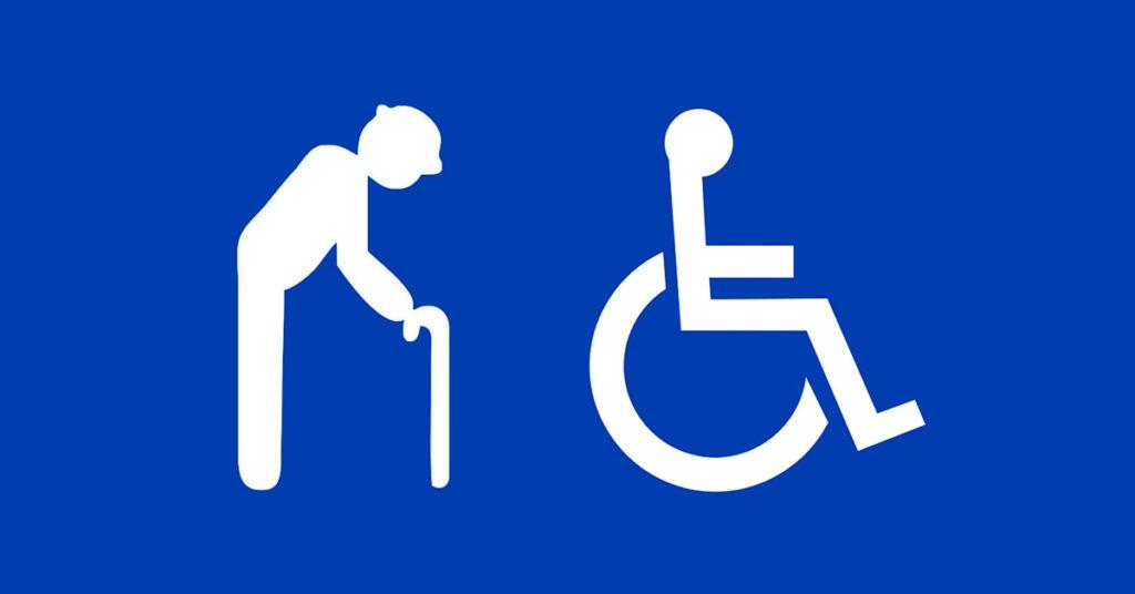 Estacionar em vagas para idosos e deficientes